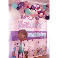 Doc McStuffins Party Backdrop Personalized Step & Repeat - Designed, Printed & Shipped!