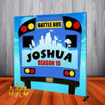 Fortnite Battle Bus Birthday Party theme Birthday Backdrop Personalized Step & Repeat - Designed, Printed & Shipped!