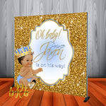 Royal Prince Baby Blue Shower Backdrop Personalized Step & Repeat - Designed, Printed & Shipped!