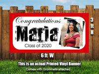 Personalized Graduation Photo Banner Heavyweight Vinyl - Designed, Printed & Shipped!