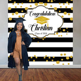 Graduation Backdrop - Personalized - Step & Repeat - Designed, Printed & Shipped!