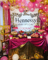 Hennessy Cognac theme  Step and Repeat Backdrop - Designed, Printed & Shipped!
