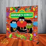 Hip Hop Sesame Street Birthday Party Backdrop Personalized Printed & Shipped!