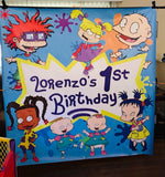 Rugrats Birthday Backdrop Personalized - Designed, Printed & Shipped!