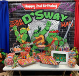 Ninja Turtles Birthday Backdrop Personalized Step & Repeat - Designed, Printed & Shipped!