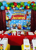 Toy Story Birthday Backdrop Personalized Step & Repeat - Designed, Printed & Shipped!