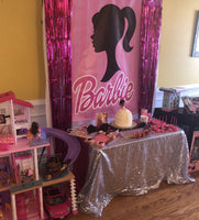 Barbie Backdrop Personalized Step & Repeat - Designed, Printed & Shipped!