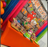 Bamm Bamm - Pebbles Flintstones Party Backdrop Personalized Printed & Shipped!