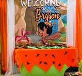 African American Bamm Bamm Flintstones Party Backdrop Personalized Printed & Shipped!