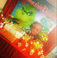 The Grinch that Stole Christmas - Photo Backdrop Personalized - Designed, Printed & Shipped!