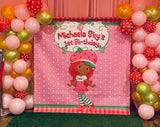 Strawberry Shortcake Backdrop Personalized Step & Repeat - Designed, Printed & Shipped!