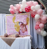 Minnie Mouse 1st Birthday Backdrop Personalized Step & Repeat - Designed, Printed & Shipped!