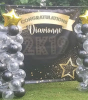 Congratulations Graduation Backdrop - Personalized - Step & Repeat - Designed, Printed & Shipped!