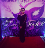 Purple Masquerade Party or Mardi Gras Backdrop - Step & Repeat - Designed, Printed & Shipped!