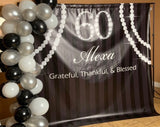Diamonds and Pearls Blessed Life Backdrop - Step & Repeat - Designed, Printed & Shipped!