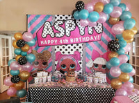 LOL Surprise Birthday Backdrop Personalized Step & Repeat - Designed, Printed & Shipped!