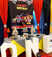 Mickey Mouse Roadster Racers Birthday Backdrop Personalized - Designed, Printed & Shipped!