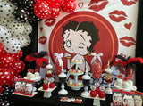 Betty Boop theme Backdrop - Designed, Printed & Shipped!