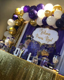 Royal Purple Princess Baby Shower Backdrop Personalized Step & Repeat - Designed, Printed & Shipped!