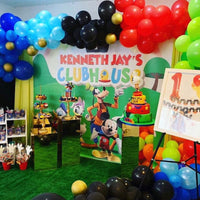 Mickey Mouse Clubhouse Birthday Backdrop Personalized - Designed, Printed & Shipped!