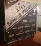 Prom Backdrop Black & Silver - Personalized - Step & Repeat - Designed, Printed & Shipped!