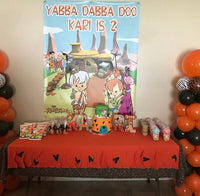 The Flintstones Party Backdrop Personalized Printed & Shipped!