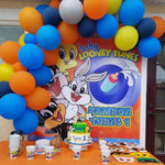 Looney Tune Party Backdrop Personalized Step & Repeat - Designed, Printed & Shipped!