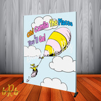 Oh the Places You'll Go! Hot Air Balloon Backdrop Personalized - Designed, Printed & Shipped!
