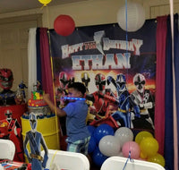 Power Rangers Ninja Steel Birthday Party  Backdrop Personalized Printed & Shipped!