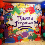 Rugrats Paint Splash Birthday Backdrop Personalized - Designed, Printed & Shipped!
