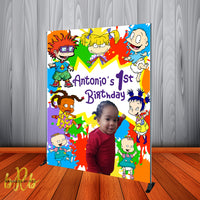 Rugrats Paint Splash Photo Birthday Party Backdrop Personalized - Designed, Printed & Shipped!