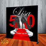 50th Birthday backdrop - Step & Repeat - Designed, Printed & Shipped!