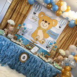 Teddy Bear Hot Air Balloon Backdrop Personalized Step & Repeat - Designed, Printed & Shipped!
