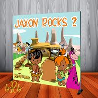 The Flintstones Party Backdrop African American Personalized Printed & Shipped!