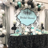 Tiffany Blue and Damask Backdrop - Step & Repeat - Designed, Printed & Shipped!