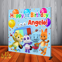 Word Party Birthday Party Backdrop Personalized Step & Repeat - Designed, Printed & Shipped!