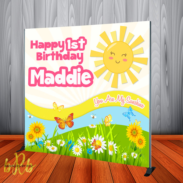 You are my Sunshine Backdrop Personalized Step & Repeat - Designed, Printed & Shipped!