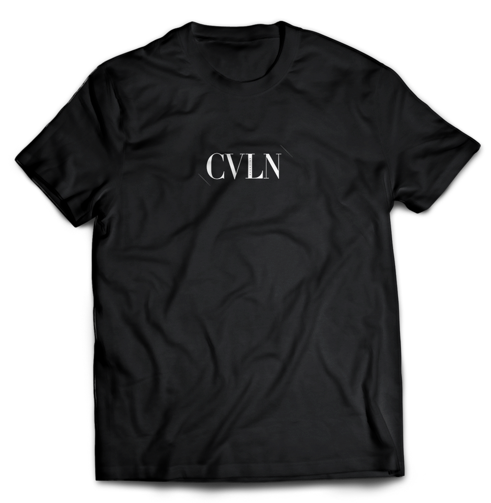 Black Short-Sleeve Tee CVLN