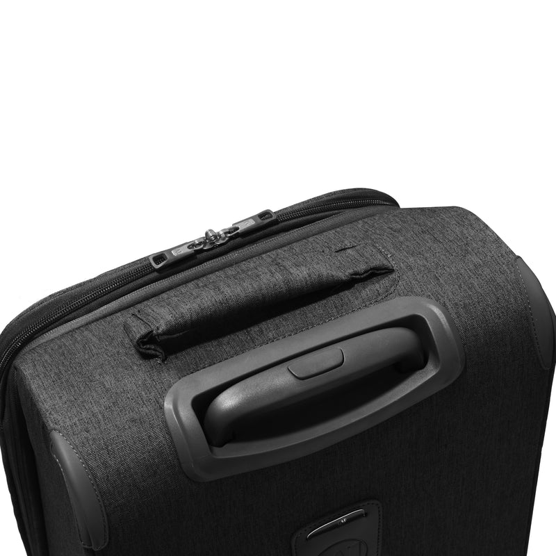 "Florence | 21"" Expandable Black Soft-Sided Spinner Luggage 