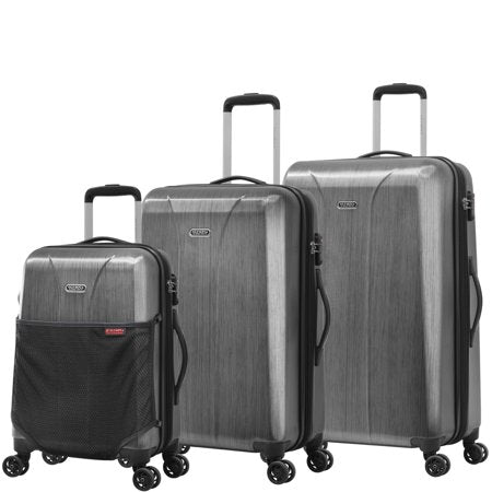 xuitcase aerolite expandable hardsided spinner luggage