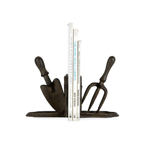 Garden Fork and Trowel Bookend Set - Cast Iron