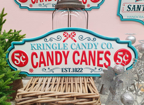 Kringle Candy Co Sign
