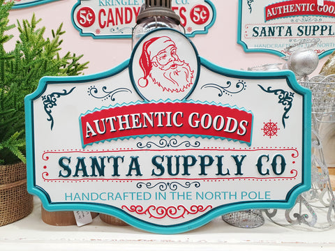 """Santa Supply Co"" Sign"