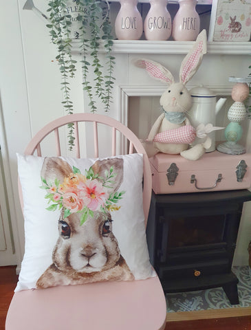 Cute Floral Bunny Cushion