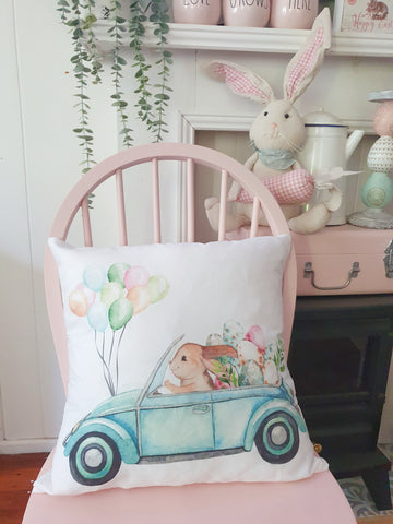 Easter Bunny Truck Cushion