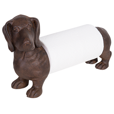 *Pre-Order* Sausage Dog Paper Towel Holder - Rustic Brown - Farmhouse and Hound