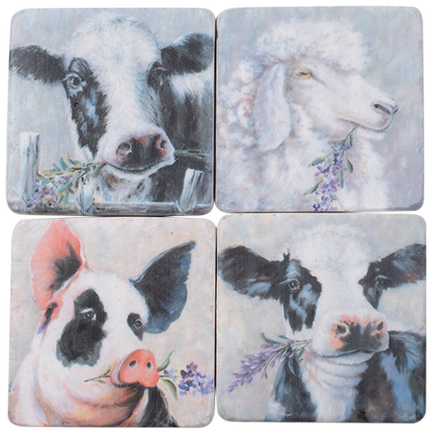 Farm Animal Coaster Tiles
