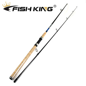Carbon 2.1M 2.4M 2.7M 2 Section Lure Fishing Rod C.W 3-15G/7-21G/10-30G/14-40G Spinning Fishing Rod - everything-fishandhunt.com