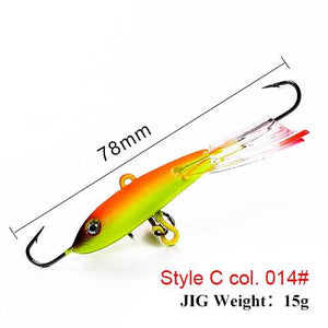 Winter Ice Fishing Lure 3D Eyes Colorful AD-Sharp Winter Lead Jigging Bass Pike Wobbler Bait - everything-fishandhunt.com