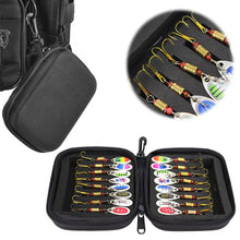 Load image into Gallery viewer, 16PCS Fishing Lures Sequins Spoon Baits Set With Zipper Tackle Bag T